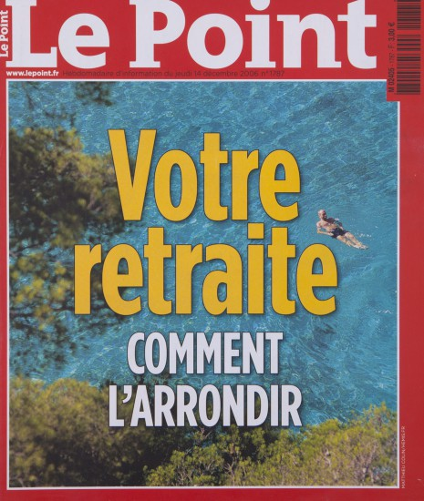 Couverture de l'hebdomadaire le Point