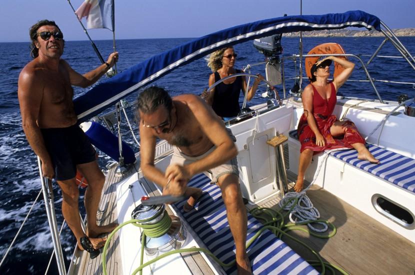 En voilier en Corse