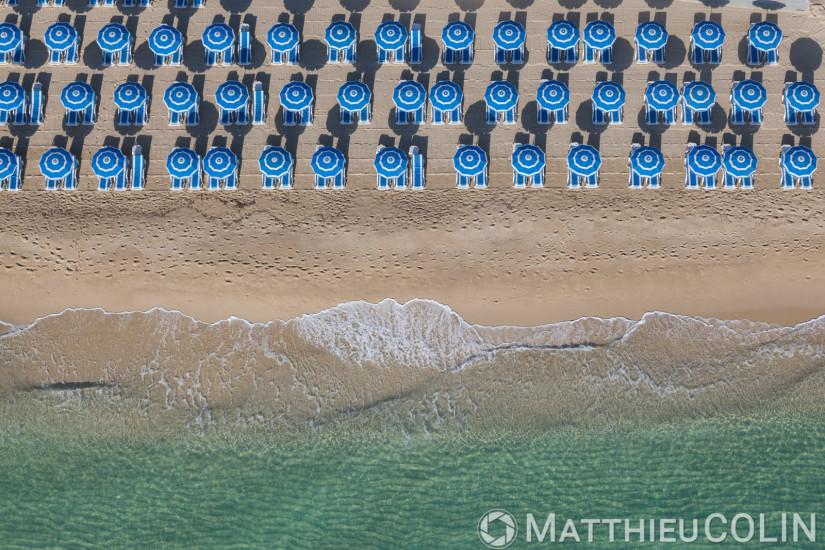 Presqu'ile de Saint-Tropez, commune de Ramatuelle, plages de Pampelonne (vue aerienne)
