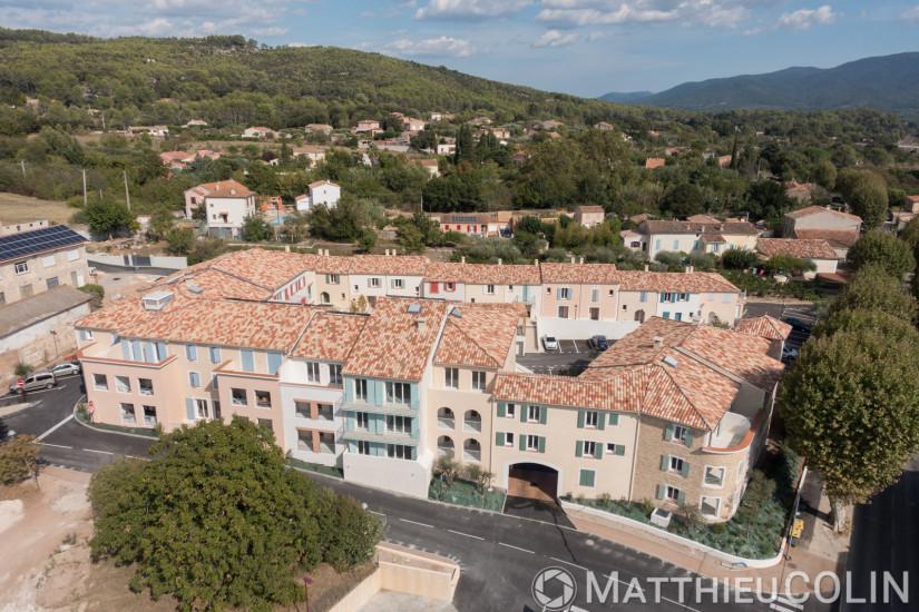 Carnoules, Le clos des Vignes, Arcade, prise de vue par drone (vue aérienne en drone)