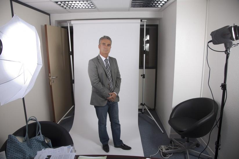 Kit studio portable avec fond