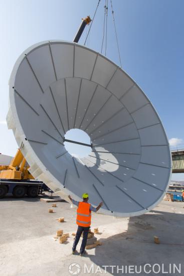 Port de Marseille, construction de 6 silos à ciment.