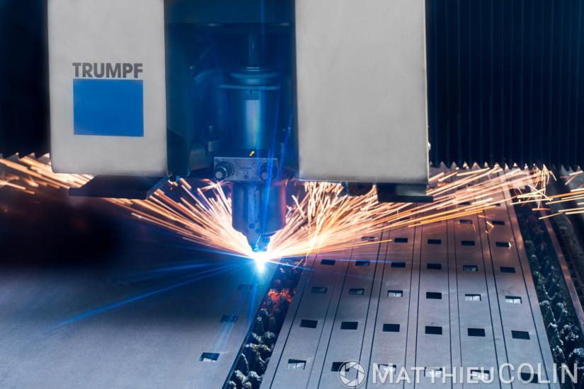 Entreprise de découpe laser et plasma de précision de metal. Process industriel de découpe laser, découpe plasma, pliage sur acier, inox et aluminium.