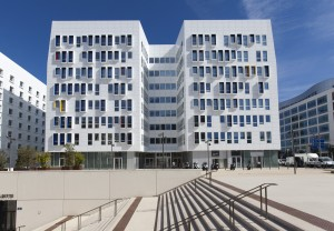 France, Bouches-du-Rhône  (13), Marseille, Euromed ou euroméditerranée, la Joliette, Euromed Center, immeuble de bureau Astrolabe