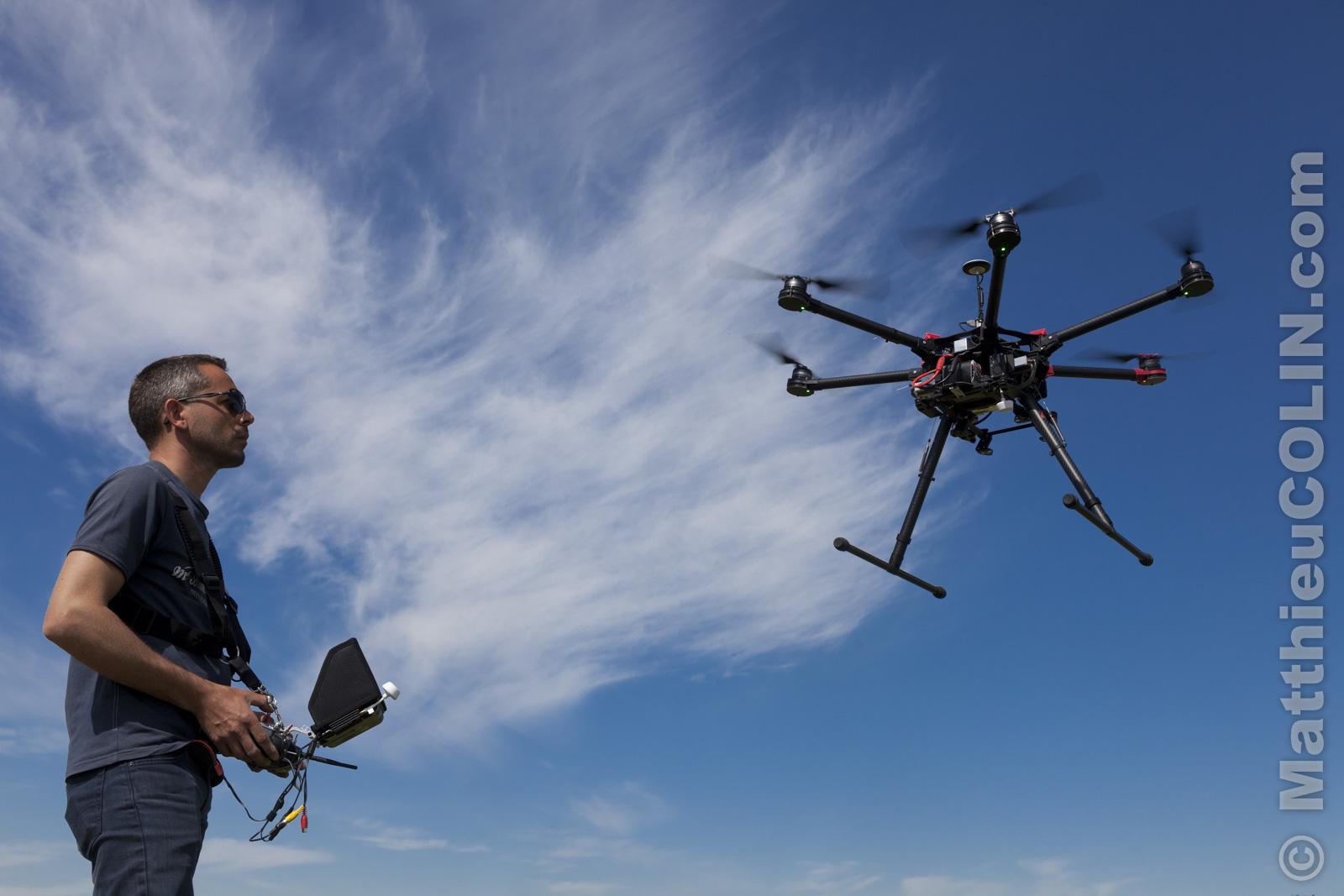 escadrille de drone en provence