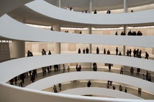 Etats-Unis, New York, Manhattan, musée d'art contemporain Solomon R. Guggenheim sur la 5th avenue