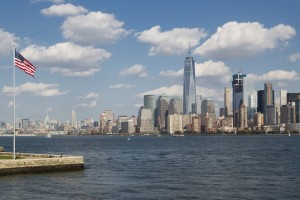 Etats-Unis, New York, Manhattan, la skyline du Financial District, One World Trade Center (1WTC)