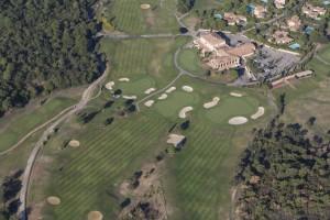 france, Var (83), littoral, golfe de Saint Tropez, Golf Club de Saint Tropez (vue aérienne)