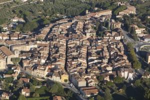 France, Var (83), Aups (vue aérienne)