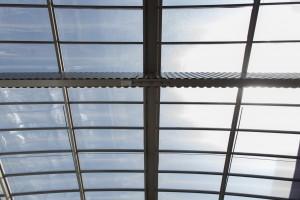 France, Var (83), La Garde, société Transfix du groupe Cahors, toit de verre Everlite