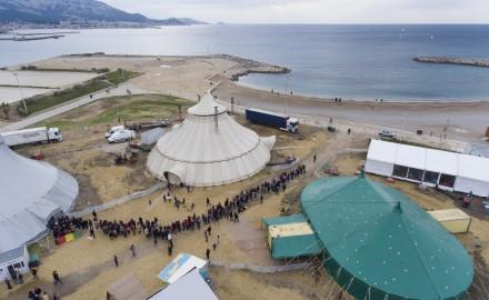 France, Bouches-du-Rhône (13), Marseille, Biennale internaitonale des arts du cirque de Marseille sur les plages du Prado
