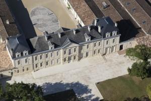 France, Gironde (33), Saint Emilion, Château Soutard, grand cru classé de Saint Emilion (vue aérienne)