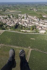 France, Gironde (33), village de Saint Emilion, classé Patrimoine Mondial de l'UNESCO (vue aérienne)