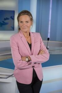 France, Bouches-du-Rhône (13), Marseille, France 3 Méditerranée, portrait d'Isabelle Staes