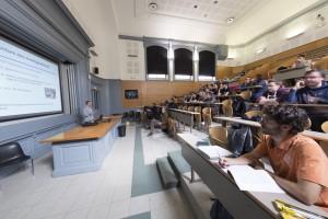 France, Bouches-du-Rhône, Marseille, Campus Saint Charles, Université Aix-Marseille, étudiant, cours magistral en amphitheâtre