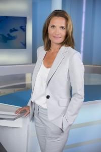 France, Bouches-du-Rhône (13), Marseille, France 3 Méditerranée, portrait de la  journaliste Muriel Gensse