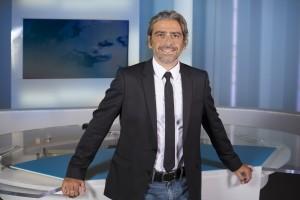 France, Bouches-du-Rhône (13), Marseille, France 3 Méditerranée, portrait du  journaliste Olivier Gerbi