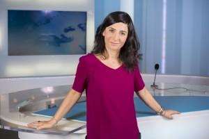France, Bouches-du-Rhône (13), Marseille, France 3 Méditerranée, portrait de la  journaliste Noémie Dahan