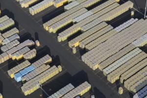 France, Maine-et-Loire (49), Chemillé-en-Anjou, Saint Gobain, Isover, usine de fabricaion de laine de verre (vue aérienne)