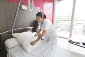 France, Bouches-du-Rhône (13), Marseille,  clinique Madeleine Remuzat, établissement de soins de suite et de réadaptation pour les patients âgés