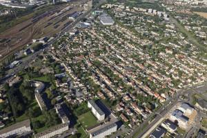 France, Yvelines (78), Trappes en Yvelines, la Boissiere (vue aerienne)