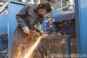 France, Bouches-du-Rhône (13), Marseille,   CFA BTP (Centre de Formation d Apprentis Bâtiment Travaux Publics) de Marseille, métalurgie, métier du fer