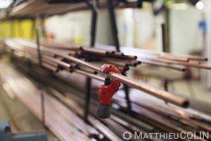 France, Alpes-Maritimes (06), Antibes,   CFA BTP, Centre de Formation d Apprentis Bâtiment Travaux Publics d'Antibes, metallerie, cuivre