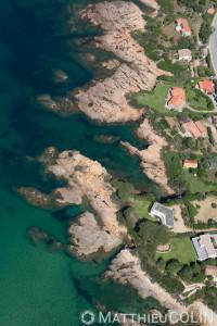 France. Corse du Sud (2A), golfe de Sagone, commune de Coggia, Témoli  (vue aérienne)