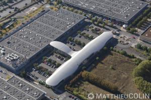 France, Val de Marne (94), Fresnes, centre commercial la Ceriseraie  (vue aérienne)