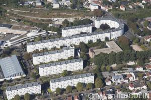 France, Val de Marne (94), Champigny sur Marne, Zac, rue Germinal, Prairial, Péri et Messidor  (vue aérienne)