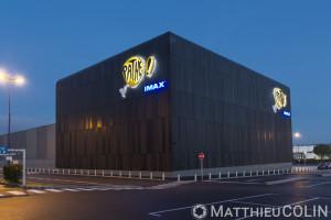 France, Bouches-du-Rhône (13), Les Pennes Mirabeau, Marseille, Plan de Campagne, Cinéma Pathé, Salle Imax, architecte ATELIER 4+