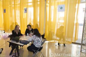 France, Bouches-du-Rhône, Marseille, Dev Up, journée organisée par Initiative Provence alpes Côte d'Azur à l'Hôtel de Région Sud pour aider les entrepreneurs. Business meeting, coaching, temoignage de dirigeant d'entreprises.