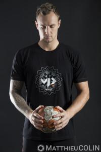France,Herault (34), Montpellier Handball, MHB, le joeur Valentin Porte, aillier ou arrière droit champion du monde, avec l'équipe de France, Hummel