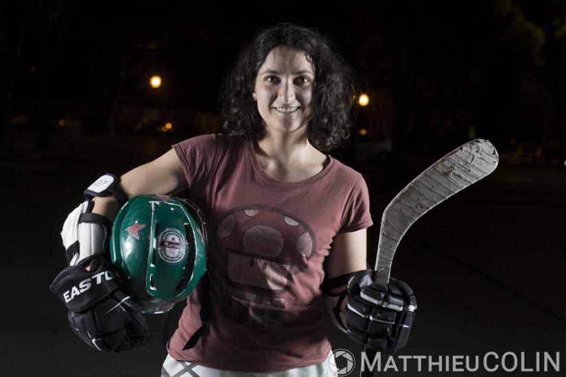 Joueuse Street Hockey