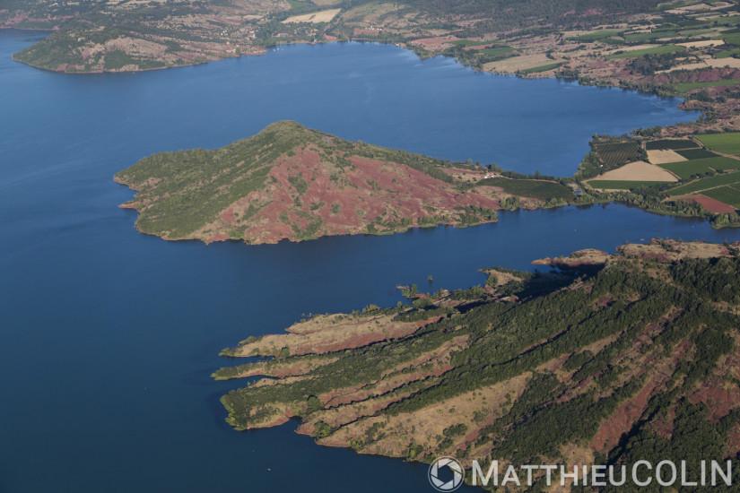 Lac du Salagou vue aerienne