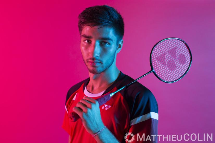 Portrait de Toma Junior Popov,  joueur de Badminton, Yonex
