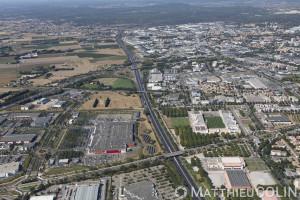 France, Gard (30), Nîmes, Stade des Costières (vue aérienne)