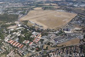 France, Gard (30), Nîmes, aérodrôme de Courbessac (vue aérienne)