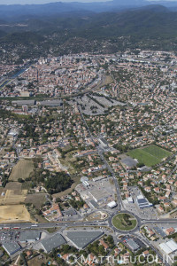 France, Gard (30), Alès (vue aérienne)