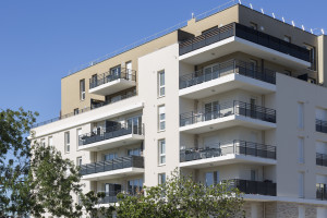 France, Bouches-du-Rhône (13), Marseille, résidence Nouvelle Perspective