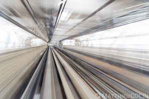Japon, île de Honshu, région de Kanto, Tokyo, métro aérien du quartier de Koto//Japan, Honshu Island, Kanto region, Tokyo, Koto district skytrain