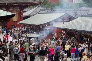 apon, île Honshu, Tokyo, Taito, quartier de Asakusa, temple bouddhiste Senso-ji//apon, Honshu Island, Tokyo, Taito, Asakusa district, Senso-ji Buddhist temple