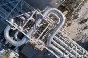 France, Bouches-du-Rhône (13),  Martigues, centrale Thermique EDF de Martigues, centrale à double cycle combiné gaz (vue aérienne)
