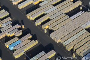 Chemillé-en-Anjou, Saint Gobain, Isover, usine de fabricaion de laine de verre (vue aérienne)