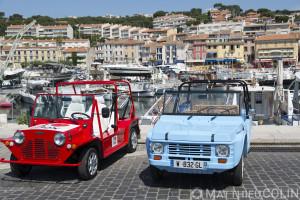 France, Bouches-du-Rhône (13), Cassis, Eden Cassis, Mehari electrique et la Nosmoke voiture 100% électrique