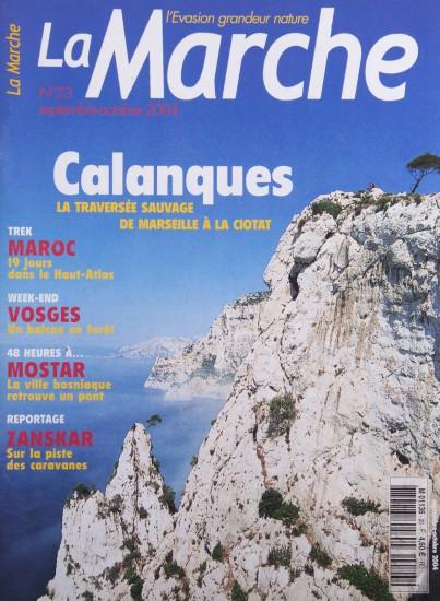 Couverture du magazine La Marche. Les calanques