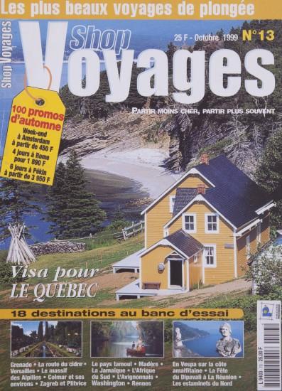 Couverture du magazine Shop Voyages - Dossier Québec