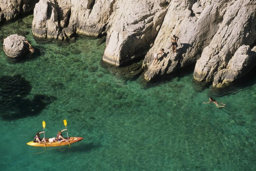Calanque d'En Vau, kayak de mer