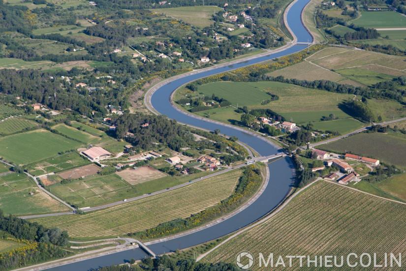 Méandres du canal EDF (vue aérienne)