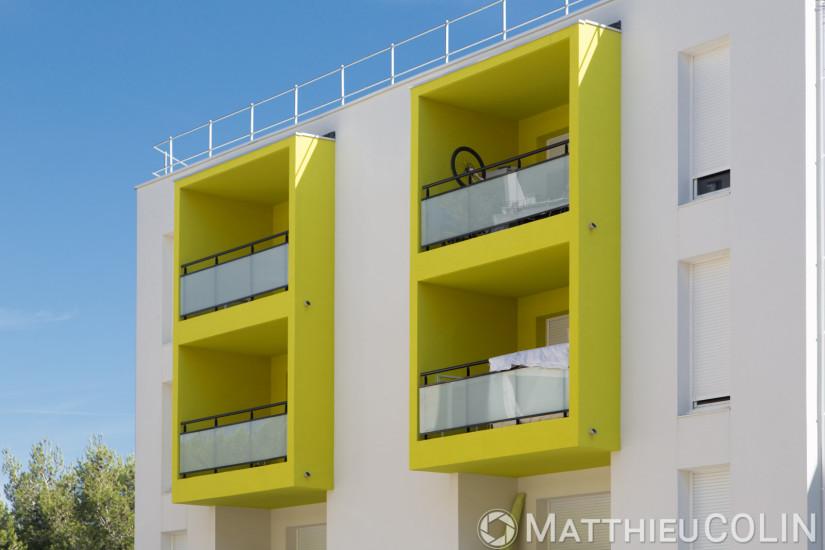 Martigues, Logis Méditerranée, Résidence, architecture